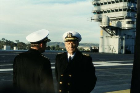 Behind Enemy Lines Reigart (Gene Hackman , right) confers with the commander of NATO orces, Admiral Piquet (Joaquim De Almeida), over the matter of a downed merican aviator in 20th Century Fox's  - 2001