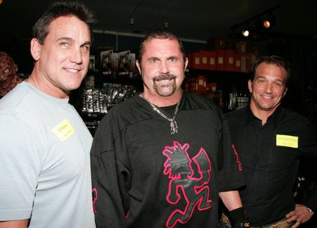 Kane Hodder  with C.J Grahan and Warrington Gillette