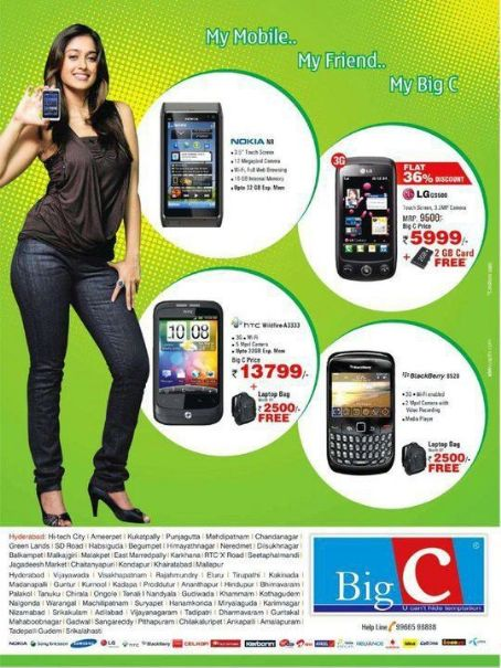 Ileana  D'Cruz for Big C mobile photoshoots