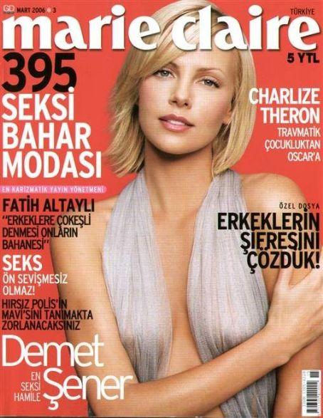 Charlize Theron - Marie Claire Magazine Cover [Turkey] (March 2006)