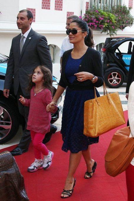 Salma Hayek: arrived at the Normandy Hotel in Deauville