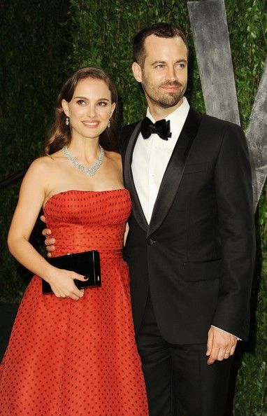 Benjamin Millepied - Natalie Portman - 2012 Vanity Fair Oscar Party Hosted By Graydon Carter - Arrivals