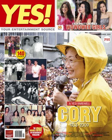 Corazon Aquino - Yes Magazine Cover [Philippines] (September 2009)