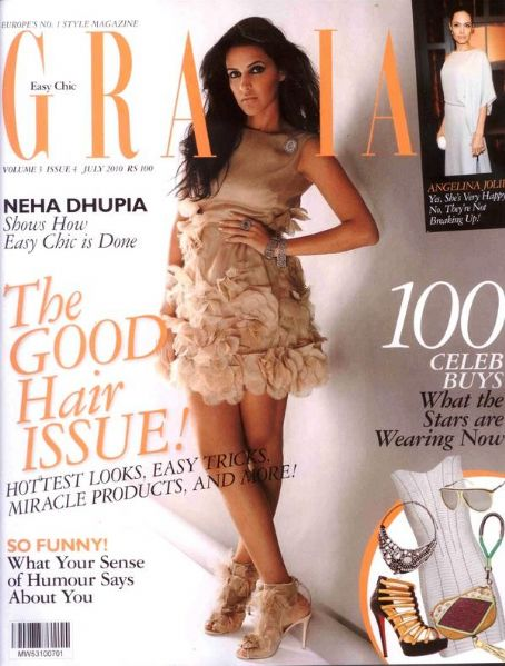Neha Dhupia - Grazia Magazine [India] (July 2010)