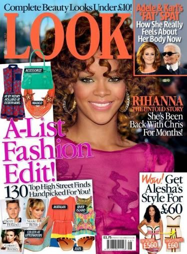 Rihanna - Look Magazine Cover [United Kingdom] (14 February 2012)