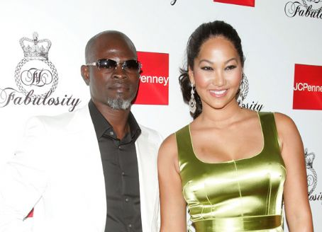 Djimon Hounsou  and Kimora Simmons