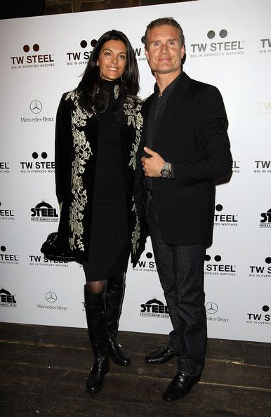 David Coulthard and Karen Minier attend an event to celebrate Kelly Rowland and Dutch watch brand TW Steel 's new partnership on December 8, 2011 in London, United Kingdom