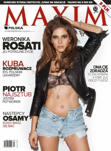 Weronika Rosati - Maxim Magazine Cover [Poland] (April 2012)