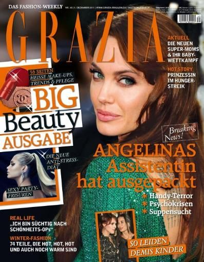 Angelina Jolie - Grazia Magazine Cover [Germany] (1 December 2011)