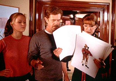 State and Main Julia Stiles, William H. Macy and Linda Kimbrough in Fine Line's  - 2000
