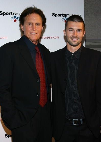 Brandon Jenner May '08 - Bruce Jenner and  attend the Sports Museum of America opening night gala
