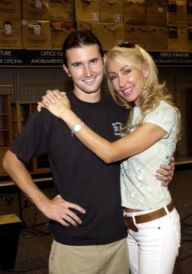 Brandon Jenner July 29, 2005 -  and Linda Thompson in LA