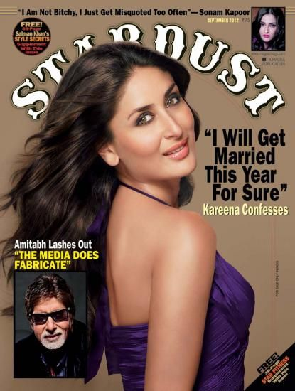 Kareena Kapoor - Stardust Magazine Pictorial [India] (September 2012)