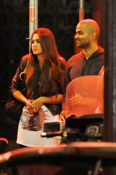 Tony Parker and Barbara Morel