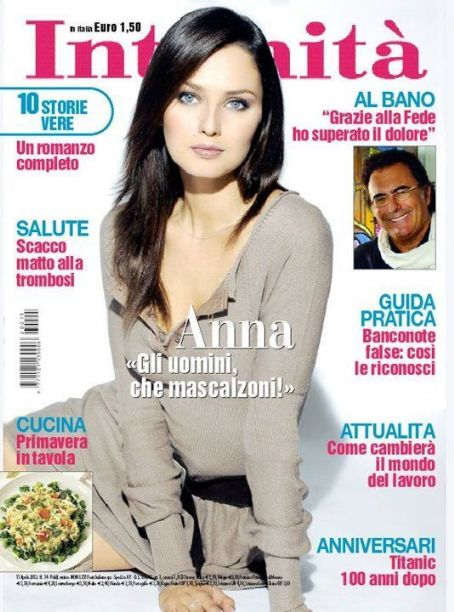 Anna Safroncik - Intimit� Magazine Cover [Italy] (10 April 2012)