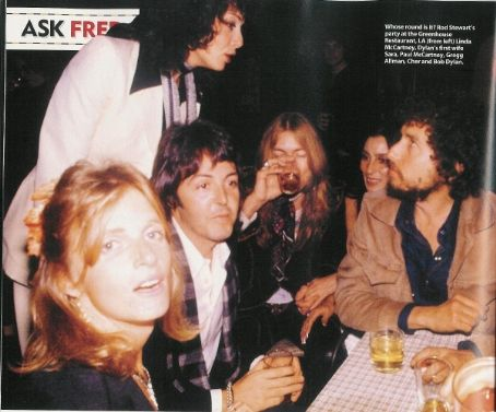 Sara Lownds Linda & Paul McCartney, Sara, Greg Allman & Cher and Bobby