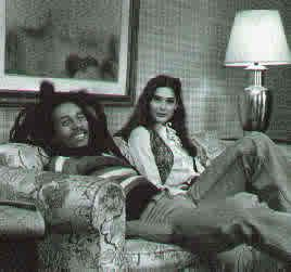 Bob Marley  and Cindy Breakspear