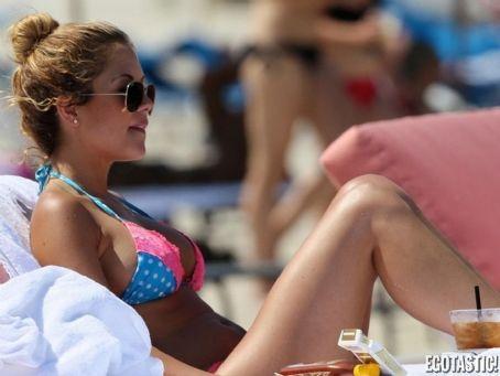 Brittney Palmer  Miami Beach Bikini Candids