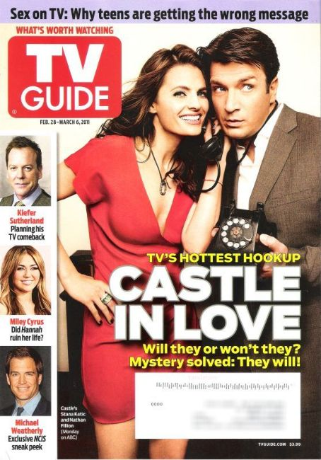 Stana Katic, Nathan Fillion - TV Guide Magazine Cover [United States] (28 February 2011)