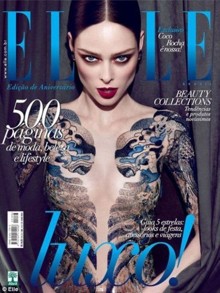 Supermodel Coco Rocha's fury after Elle Brasil airbrushes her body on magazine cover