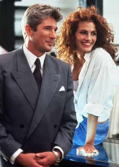 Pretty Woman Richard Gere as Edward Lewis and Julia Roberts as Vivian Ward in