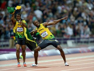 Yohan Blake Men's 4x100-meter relay 2012 Olympics: Usain Bolt,  win gold, set world record