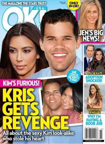 Kris Humphries, Kim Kardashian - OK! Magazine Cover [United States] (9 April 2012)