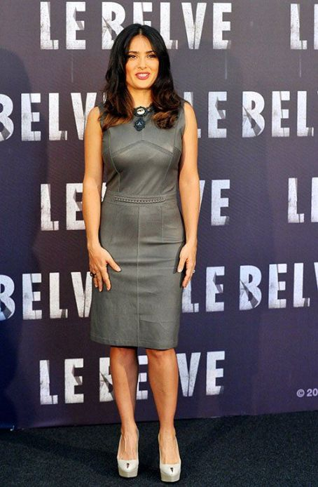 "Salma Hayek: the cast of ""Savages"" attended a photocall in Rome"