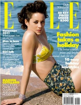 Marion Cotillard - Elle Magazine Cover [South Africa] (January 2011)