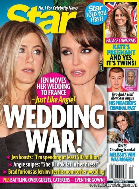 Jennifer Aniston, Melissa Rycroft, Kate Middleton - Star Magazine Cover [United States] (17 December 2012)