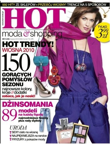 Hot Moda & Shopping Magazine Cover [Poland] (March 2010)