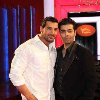 Karan Johar John Abraham on Koffee With Karan Gallery