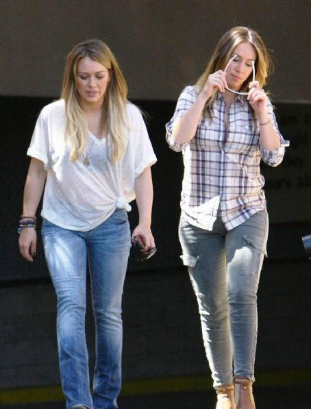 Hilary Duff & Haylie Duff: At the Los Angeles Mission's 75th annual end of the summer block party