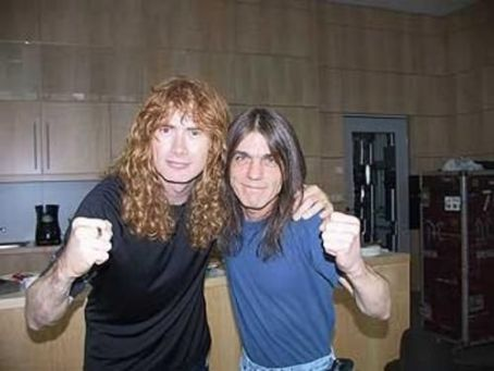 Malcolm Young Dave Mustaine with