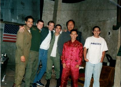 In this photo from left to right: Pablo Espinosa, Corin Nemec, Unknown, Unknown, Manu Tupou, Ernie Reyes Jr, Santino Ramos