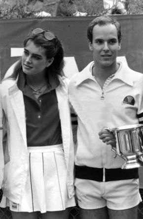 Brooke Shields and Prince Albert II