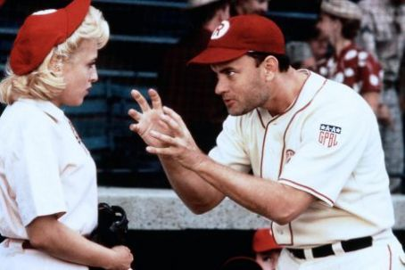 Bitty Schram Tom Hanks as Jimmy Dugan and  as Evelyn Gardner in A League of Their Own (1992)