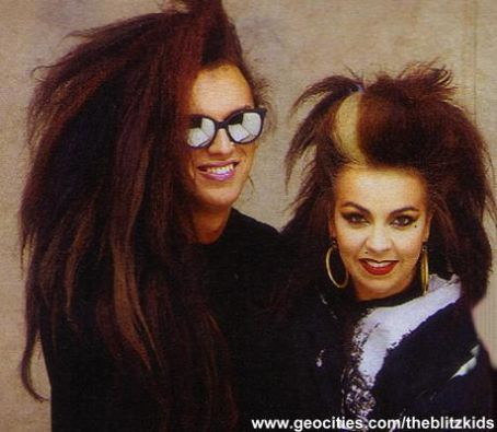 Pete Burns  and Lynne Burns