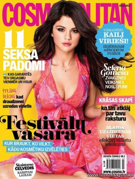 Selena Gomez - Cosmopolitan Magazine Cover [Latvia] (July 2012)