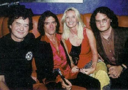 Joe and Billie Perry with Jimmy Page
