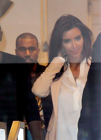 Kim Kardashian Leaves the ArtGate Gallery with Kanye West