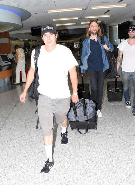 Matt Flynn Maroon 5 Members Depart LAX