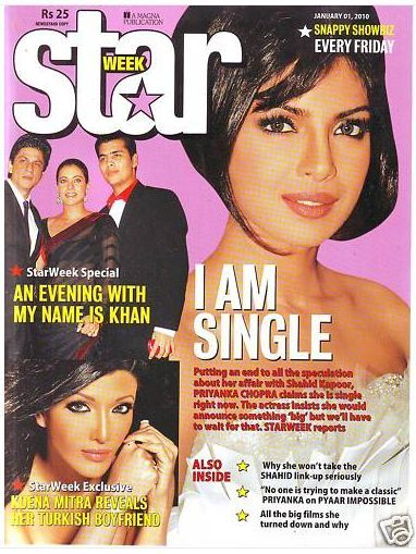 Priyanka Chopra - STAR WEEK Magazine [India] (1 January 2010)