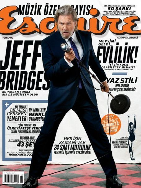 Jeff Bridges - Esquire Magazine Cover [Turkey] (June 2011)