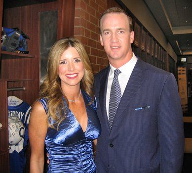 Peyton Manning and Ashley Thompson