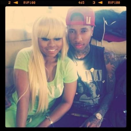 Blac Chyna Tyga and  on the set of Rack City