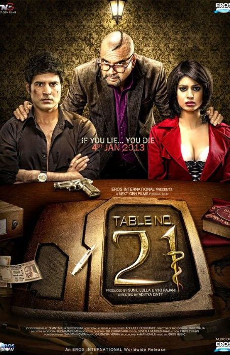 Rajeev Khandelwal New movie Table No.21 posters