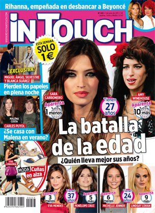 Amy Winehouse, Sara Carbonero - In Touch Magazine Cover [Spain] (25 May 2011)