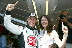 Jenson Button  and Louise Griffiths