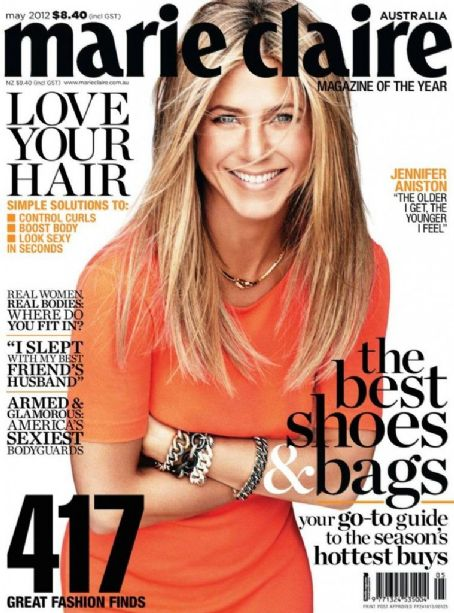 Jennifer Aniston Marie Claire Australia May 2012